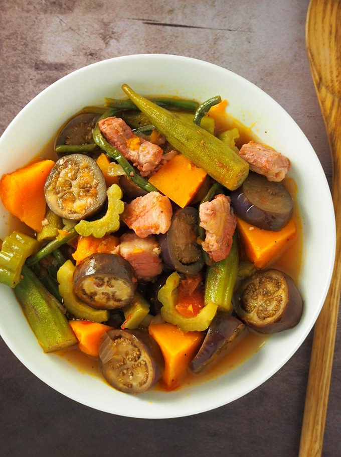 Pinakbet Tagalog With Pork Belly Kawaling Pinoy
