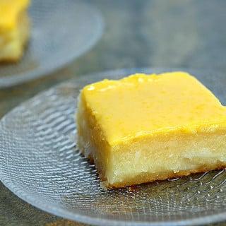 Cassava Cake with Custard Topping