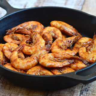 Shrimp with Oyster Sauce