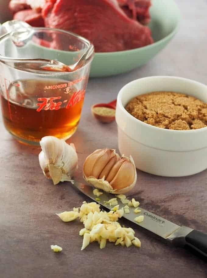 fish sauce, brown sugar, minced garlic