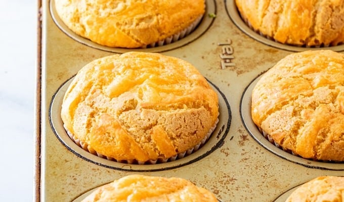 cupcakes baked in a muffin pan