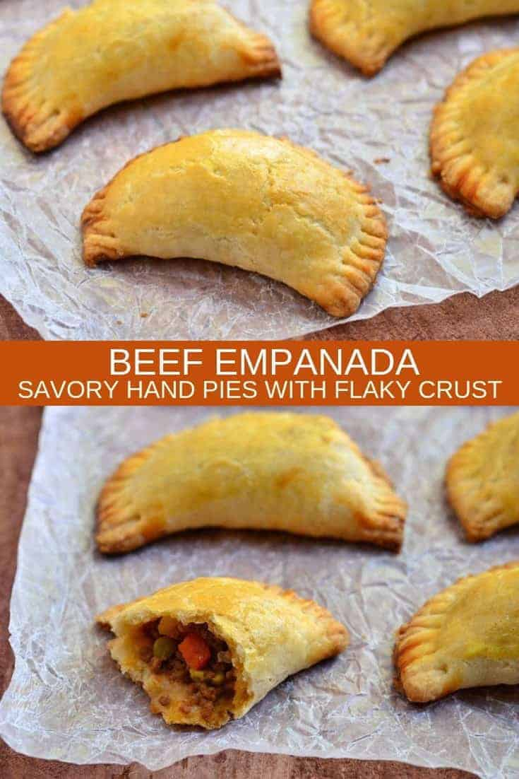 Beef Empanadas on parchment paper