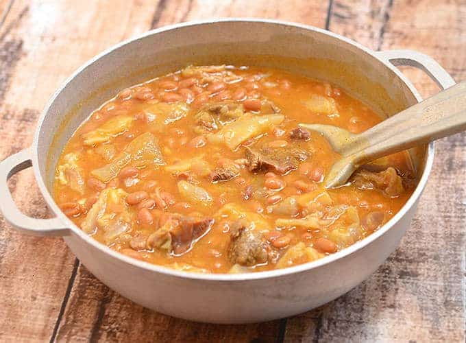 Papis is a delightful stew made of beef tendon and beans.