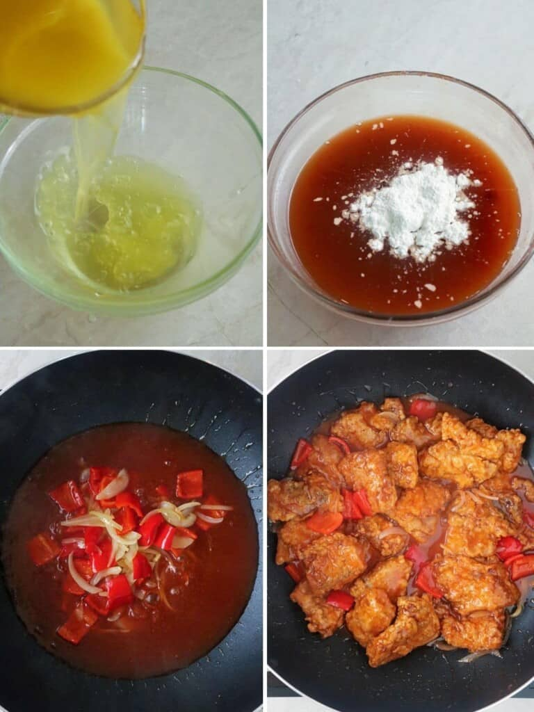 making sweet and sour fish