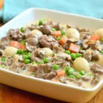 Liver and Gizzard with Sweet Peas