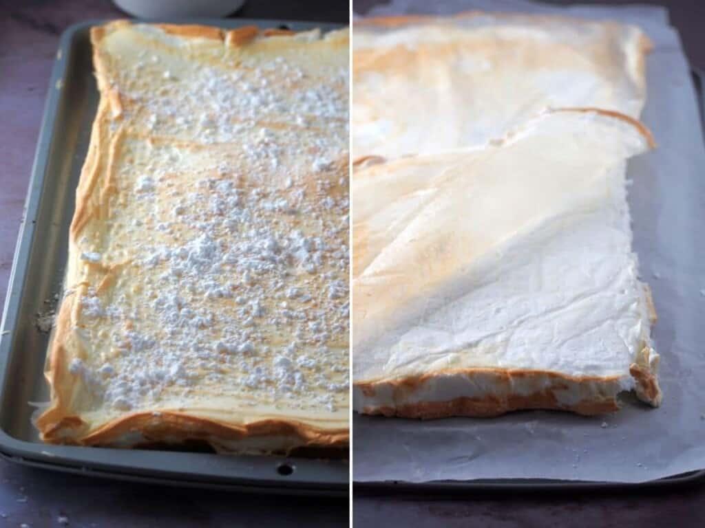 baked meringue for brazo de mercedes