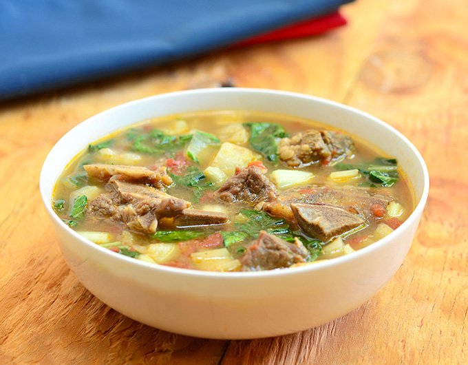 Beef, Potato and Pechay Soup