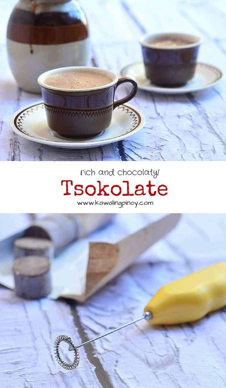 tsokolate is a decadent Filipino hot chocolate drink made with tablea cacao and peanut butter