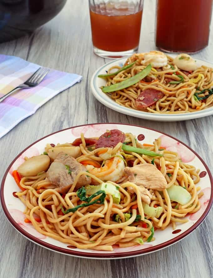 Pancit Canton on a plate