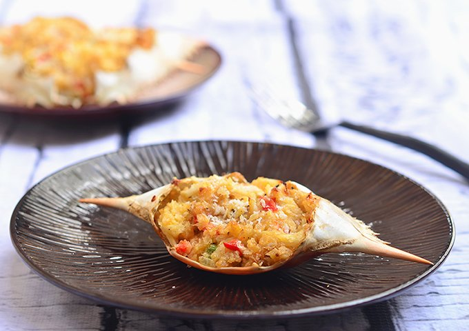 Rellenong Alimango - baked stuffed crab recipe