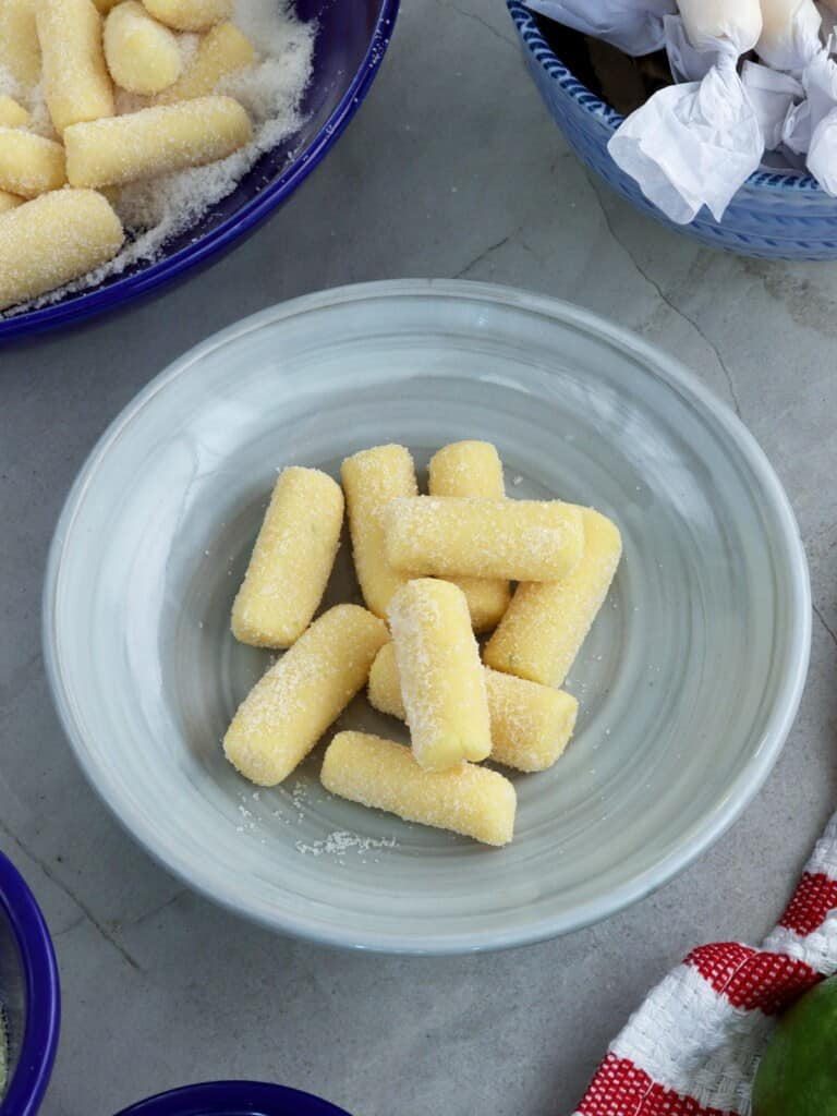 Pastillas de Leche on gray plate