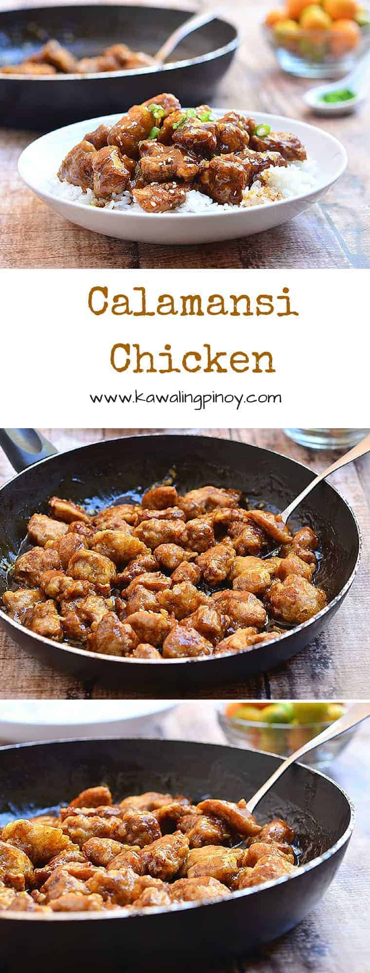 This Calamansi Chicken is an adaptation of the popular Orange Chicken. Crisp chicken pieces are drenched in a sweet and tangy citrus sauce for a delicious dish that's sure to be a family favorite