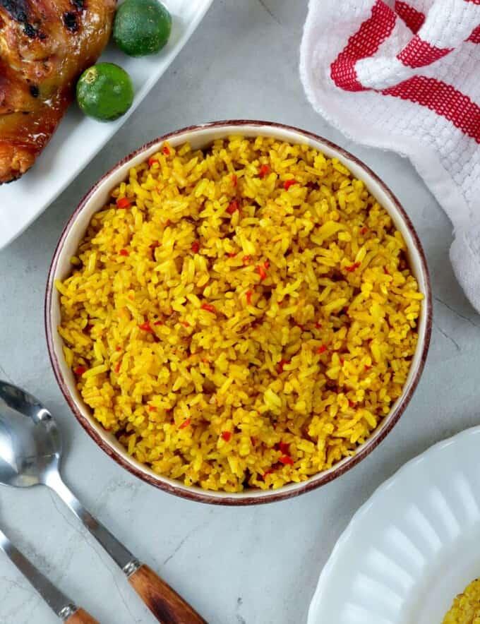 Aristocrat restaurant fried rice copycat in a bowl
