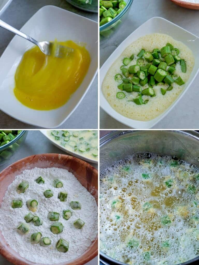 making fried okra