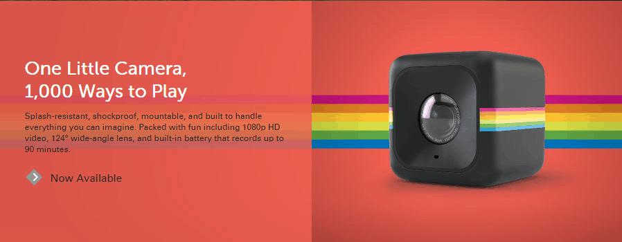 Polaroid Cube Mini Lifestyle Action  Camera