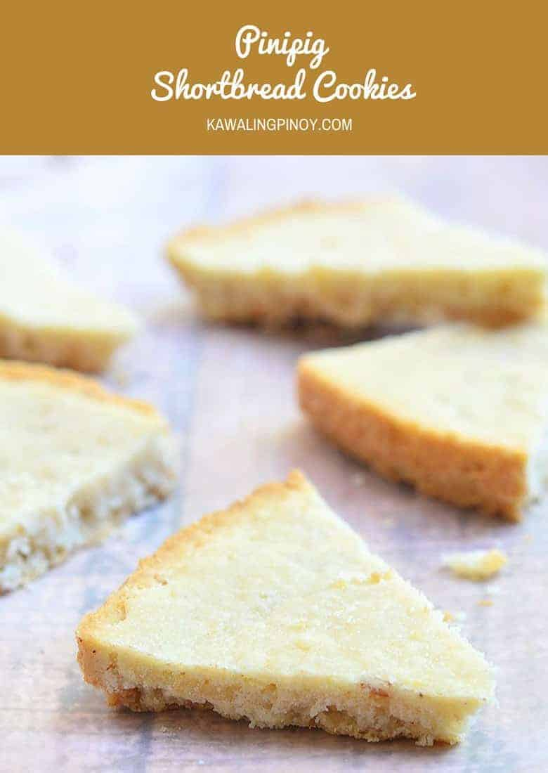 Pinipig Shortbread Cookies are rich and buttery cookies made of flour, butter, sugar, and rice krispies.