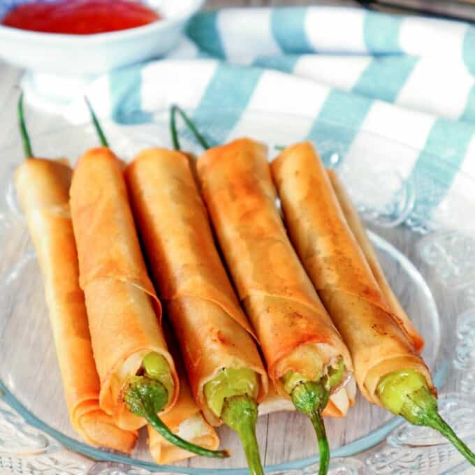 Dynamite Lumpia on a serving plate
