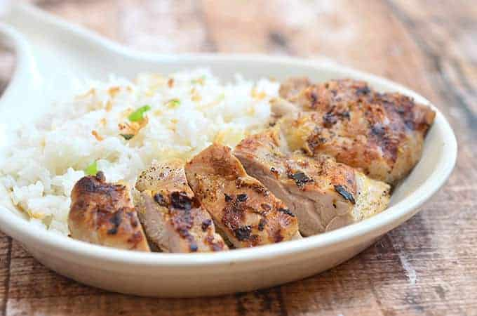 This Coconut Lime Chicken is so moist and flavorful!