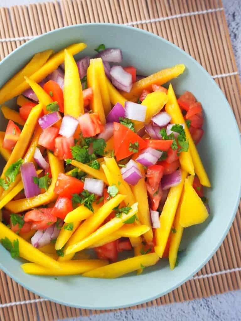 Filipino Mango and Tomato Salad in a bowl