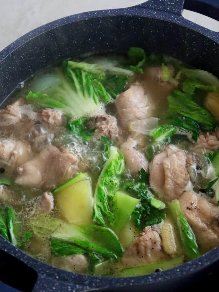 Pesang Manok in a pot