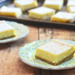 Calamansi Cheesecake Bars