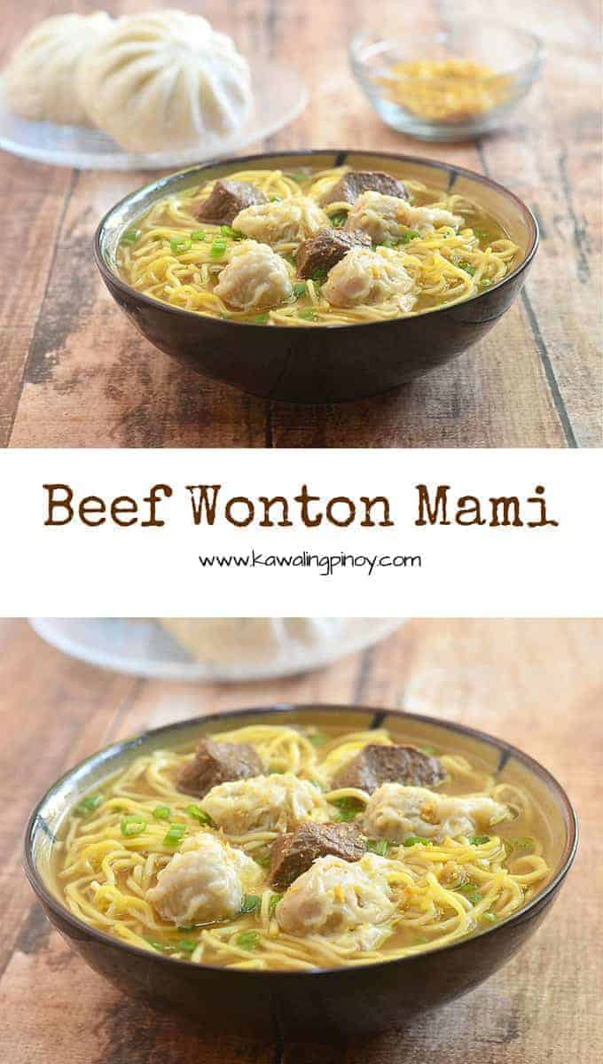 Made with tender beef, dumplings and fresh egg noodles in a delicious, flavor-packed broth, this beef wonton mami soup is comfort food at its best