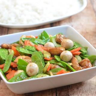 Snow Peas with Shrimp Stir-fry
