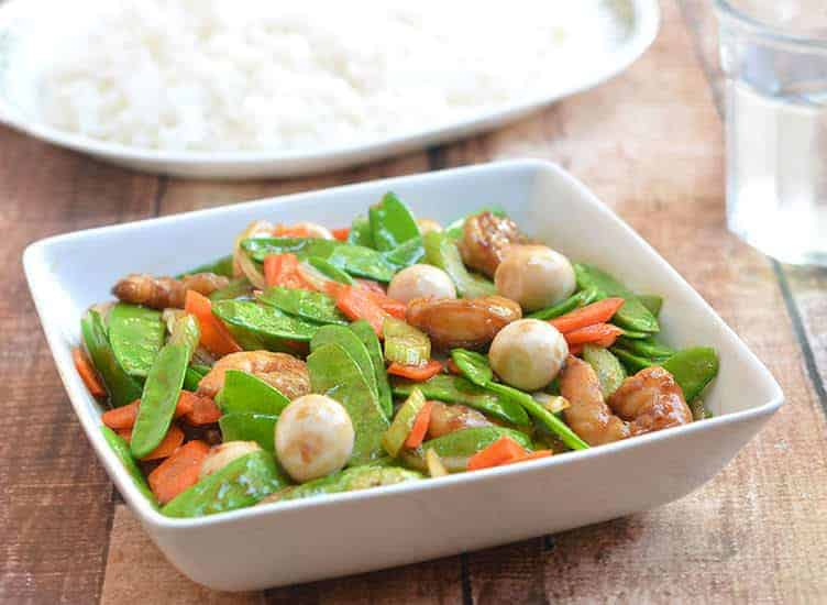 Snow Peas with Shrimp Stir-fry
