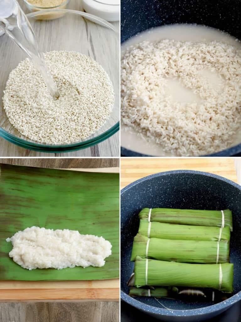 making suman in a pot