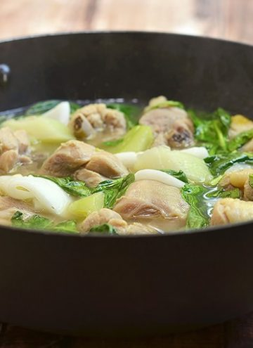 Chicken Binakol in skillet