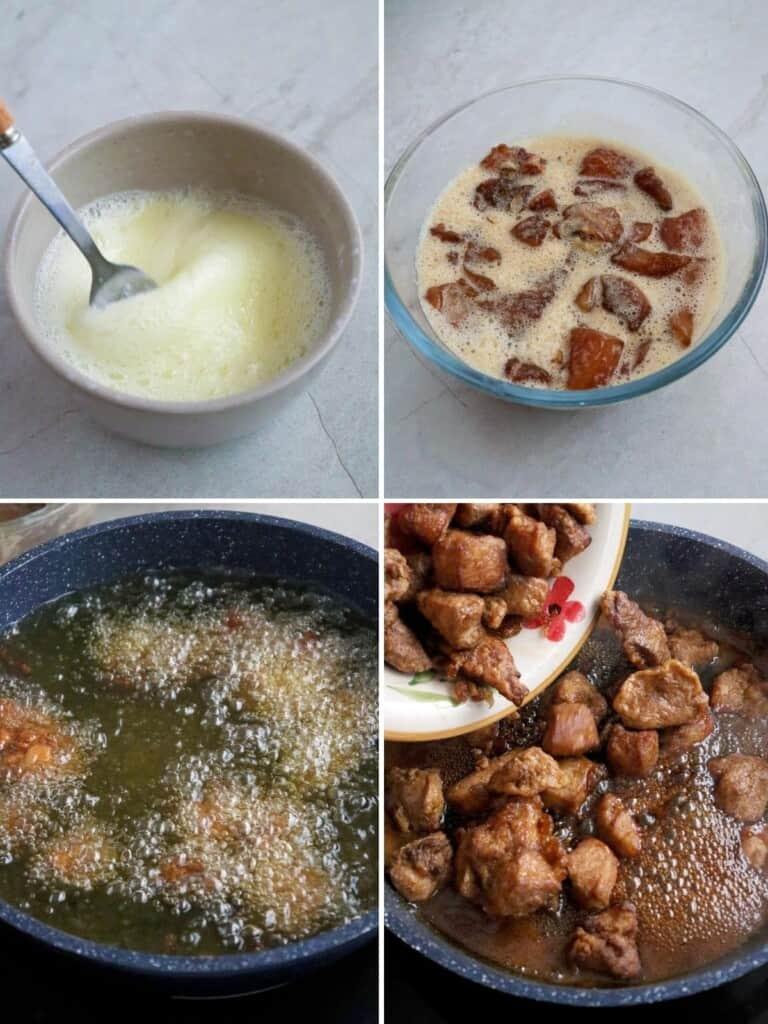 making honey garlic chicken