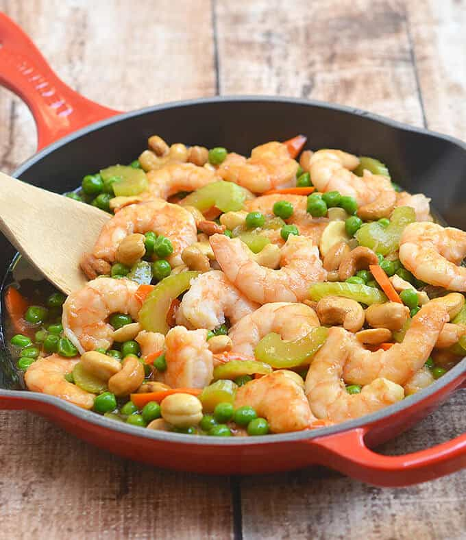 Shrimp with Green Peas and Cashew