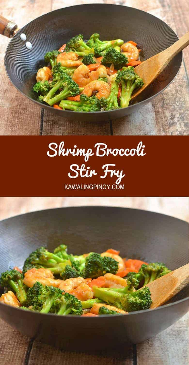 Shrimp Broccoli Stir Fry is the quick and easy way to dinner tonight! With tender-crisp veggies, succulent shrimps, and a savory sauce, it's sure to be a family favorite! Plus tips on how to stir-fry.