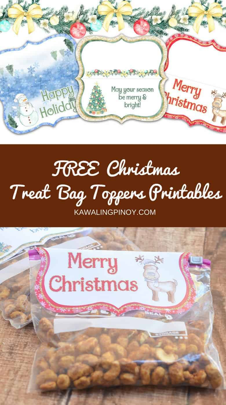 Turn your favorite homemade treats into awesome Christmas gifts! Three super cute designs!