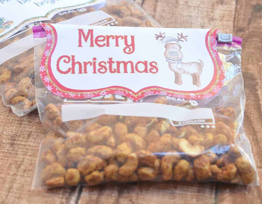 These printable Christmas baggies make great holiday treat bags.