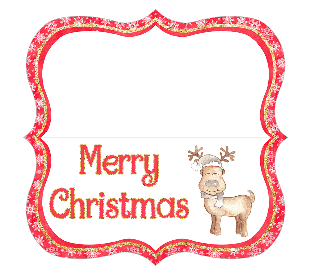 This Merry Christmas reindeer printable is festive for the holiday season.