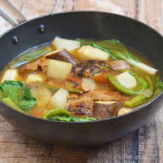 Sinigang na Inihaw na Liempo is a delicious take on a popular Filipino sour soup made with grilled pork belly and vegetables in tangy tamarind broth. Served with steamed rice or on its own, it's the perfect cold day comfort food.