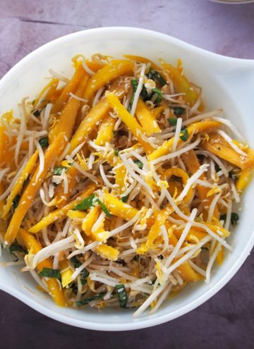 Thai Mango Salad in bowl