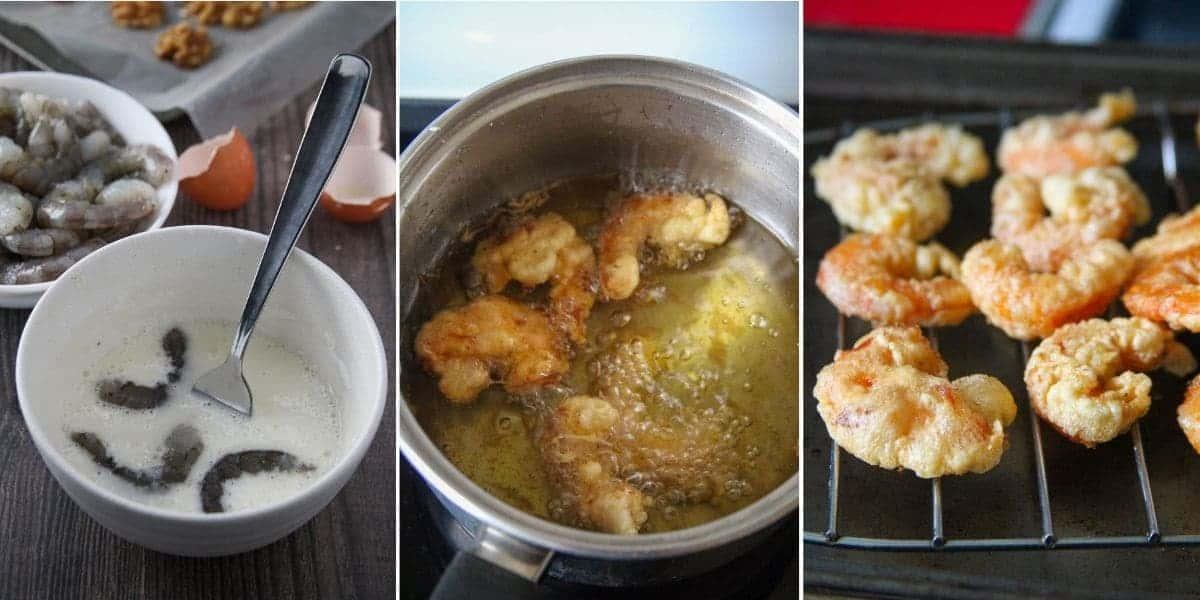 making battered shrimp