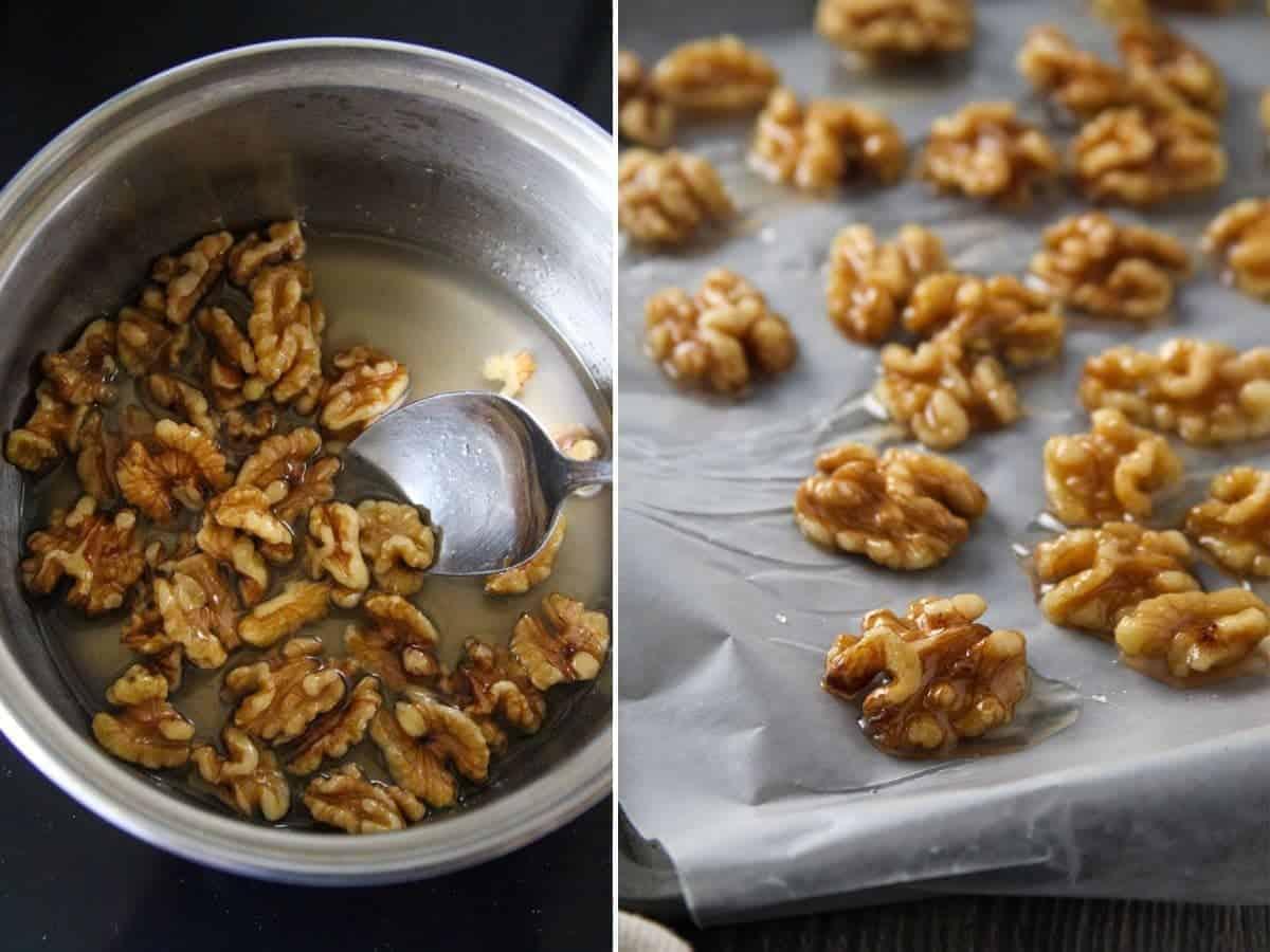 making glazed walnuts