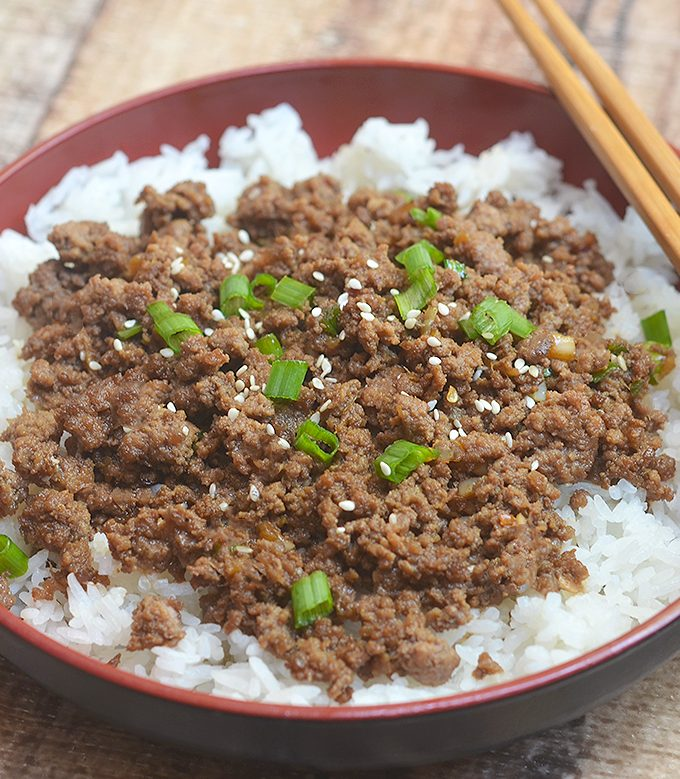Korean Ground Beef has all the flavors of your favorite Korean BBQ but made budget-friendly with ground beef. It's delicious served over rice or wrapped in lettuce leaves!