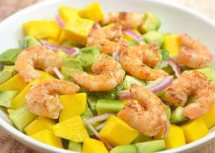 Grilled Shrimp Mango Avocado Salad