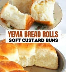 soft custard buns