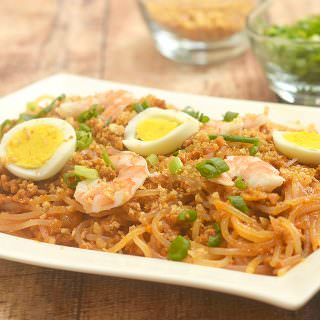Easy Pancit Luglug with thick noodles, flavorful gravy, ground pork, shrimp, chicharon, and eggs. It's hearty, tasty and a classic Filipino favorite!