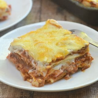 Filipino-style Lasagna is delectable pasta dish that's sure to be a family favorite. With scrumptious layers of lasagna noodles, chunky meat sauce, creamy bechamel and gooey cheese, it's hearty and delicious!