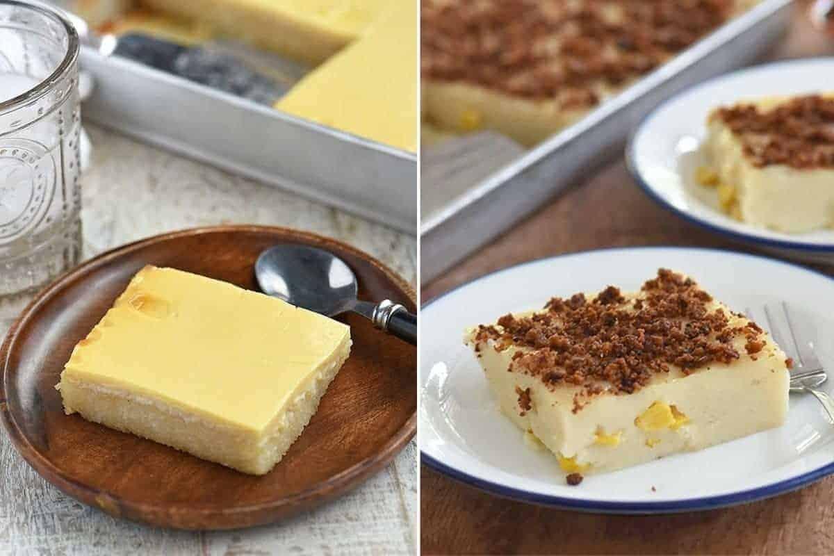 cassava cake and maja blanca