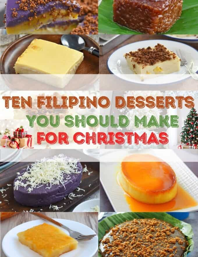 assorted Filipino desserts