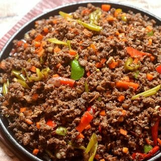 Bopis with minced pork lungs, carrots and peppers is loaded with big, bold flavors you'll love! It's perfect as bar food with ice cold beer or a main meal with steamed rice!