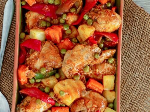 Chicken Afritada Kawaling Pinoy