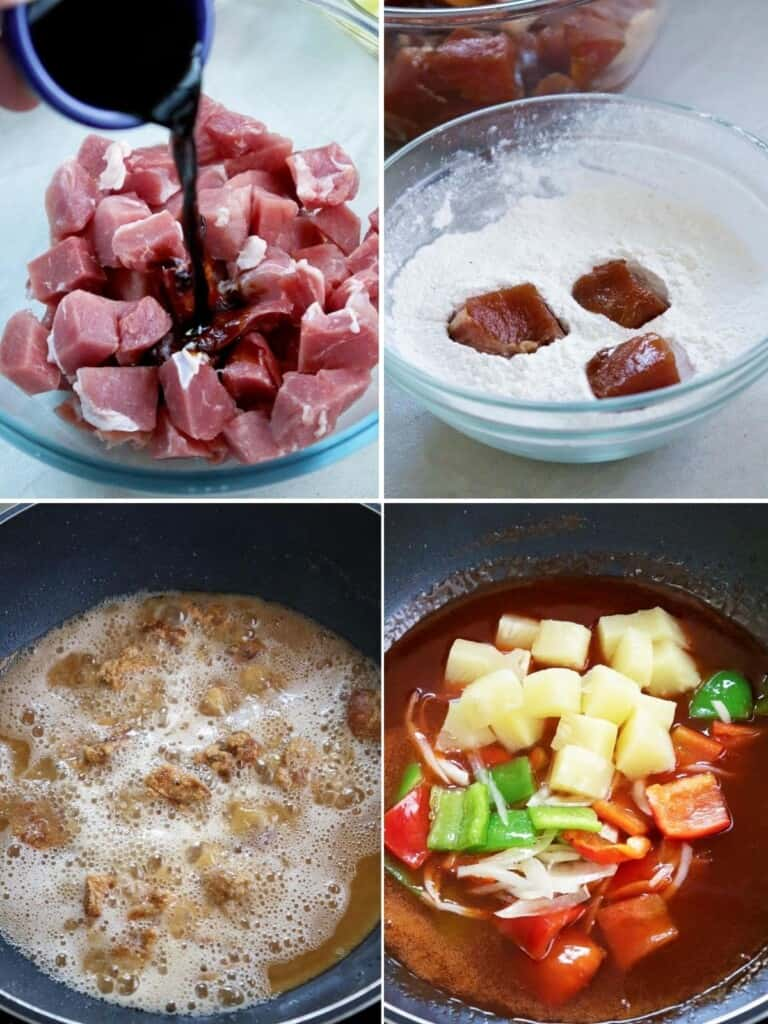 making sweet and sour sauce